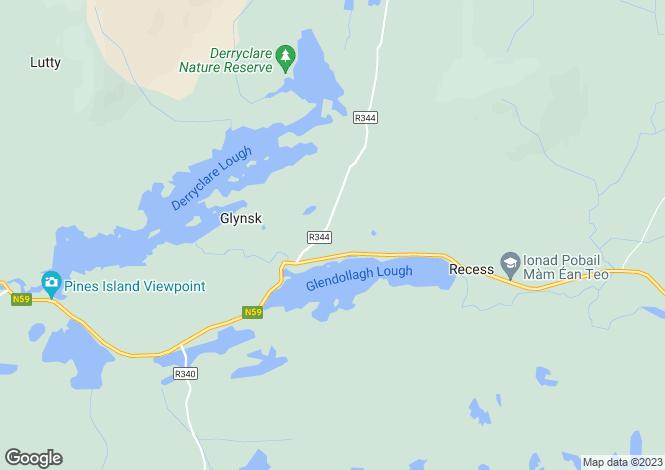 Map for Glynsk, Cashel, Connemara