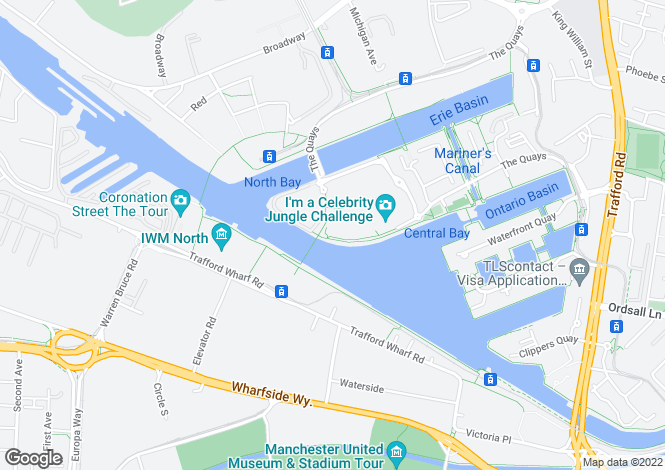 Map for The Quays,