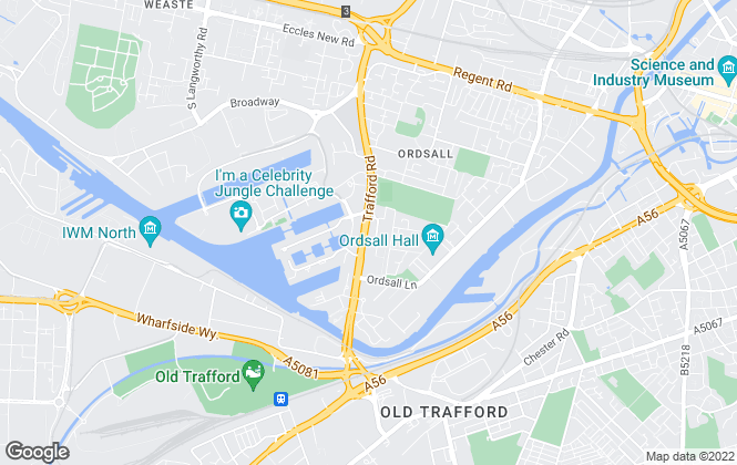 Map for X1 Lettings, Salford