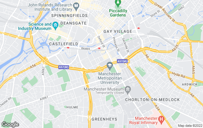 Map for Townhouse , Manchester