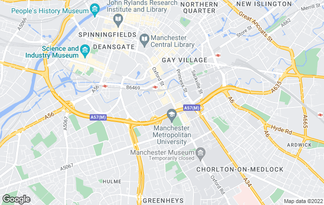 Map for North West Lettings, Manchester