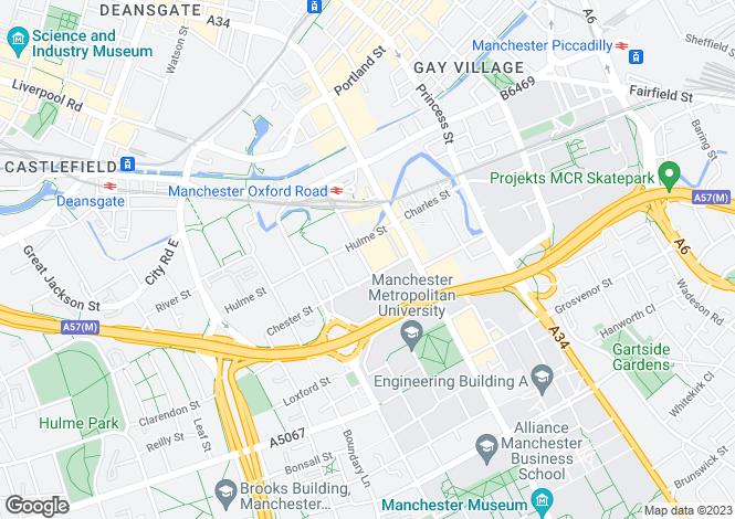 Map for The QuadrangleLower Ormond Street,Manchester,M1