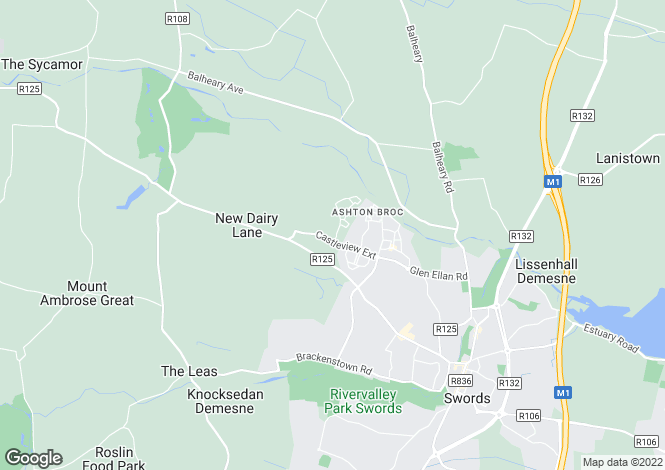 Map for Four Bed Semi-Detached Homes, Millers Glen, Swords, Co. Dublin