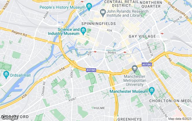 Map for Premier Residential Lettings Ltd, Manchester