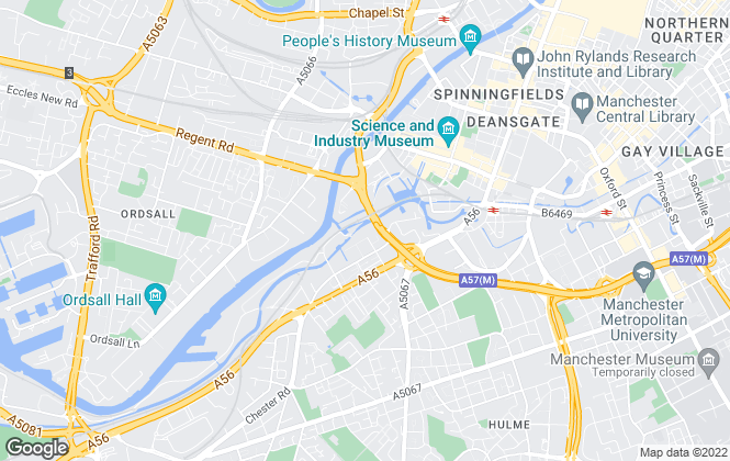 Map for VitalSpace, Manchester