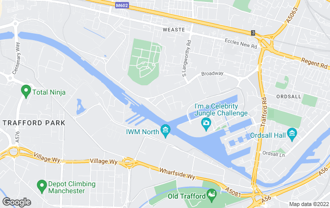 Map for Qube Residential, Salford Quays