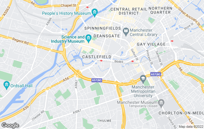 Map for Genesis City Ltd, Manchester