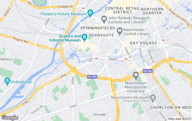 Map for Canning O'Neill, Manchester