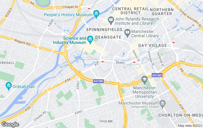 Map for VZ Properties, Manchester
