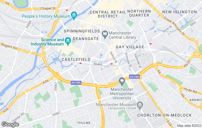 Map for Reeds Rains Lettings, Manchester City Centre City Living