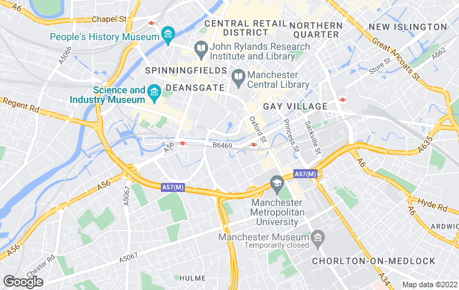 Map for Reeds Rains Lettings, Manchester City Centre