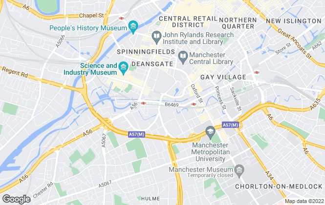 Map for Bridgfords Lettings, Manchester