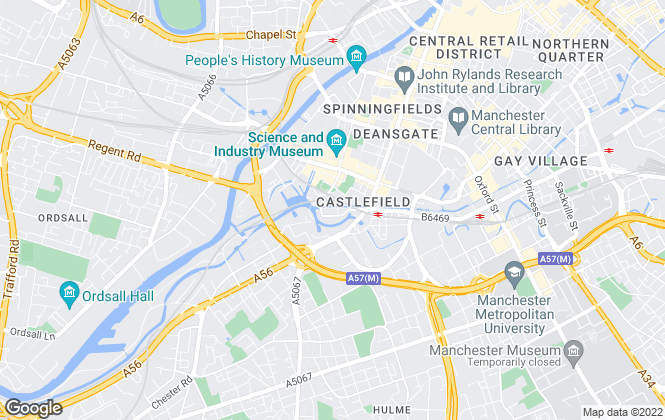 Map for PlaceFirst Lettings, Manchester