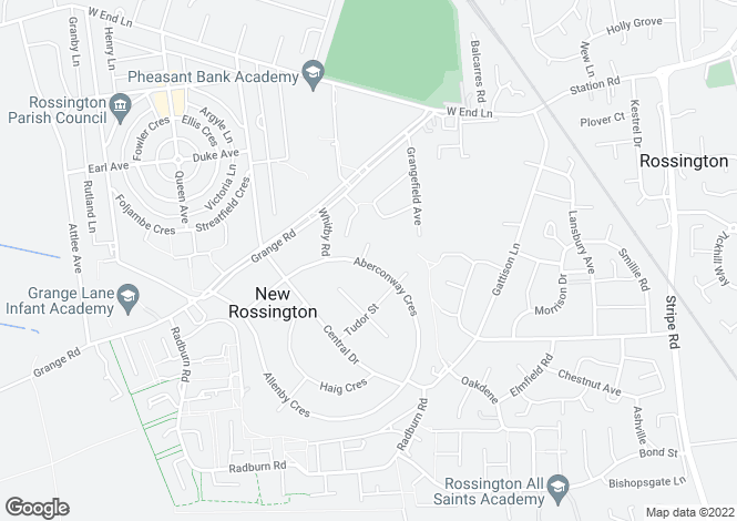 Map for Aberconway Crescent, New Rossington, Doncaster DN11