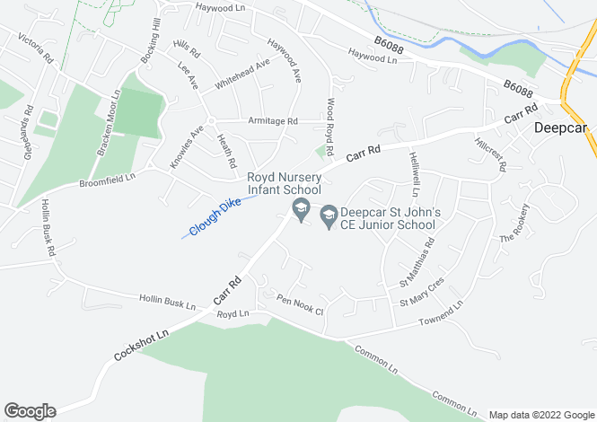 Map for Carr Road, Deepcar, Sheffield, S36
