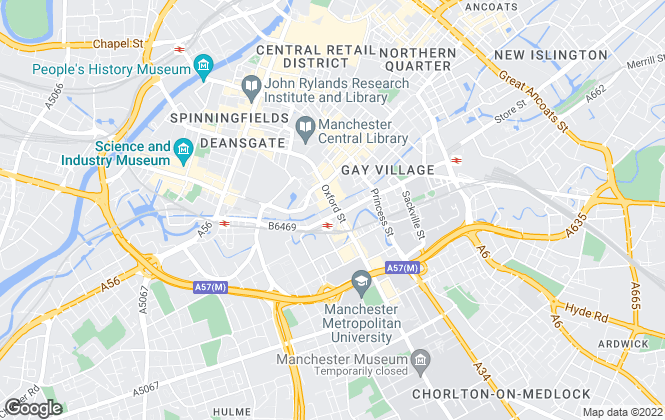 Map for Manchester Apartments, Manchester