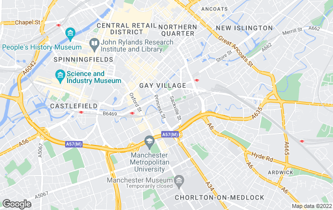 Map for Uncle, Manchester