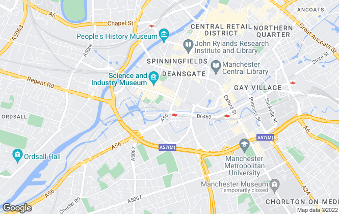 Map for homes4u, Manchester City Centre