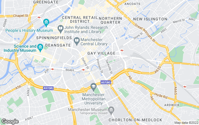 Map for Manlets, Manchester