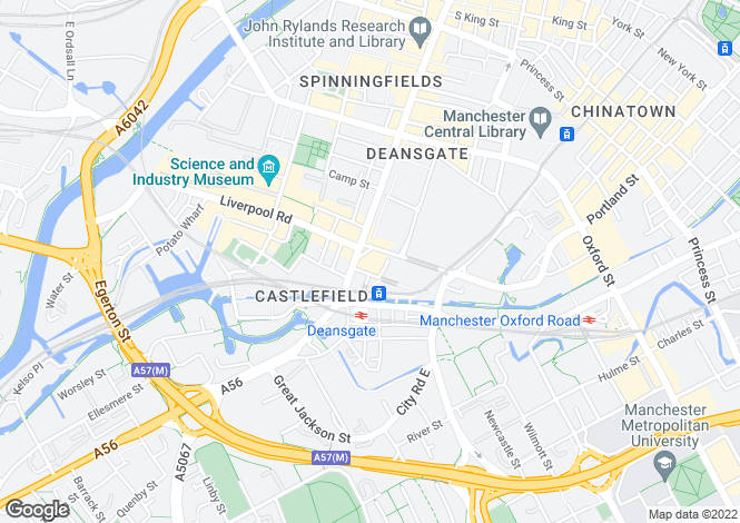 Map for Deansgate, Manchester, M3