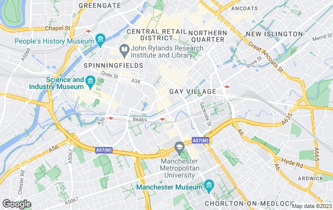 Map for Buraq Estates, Manchester