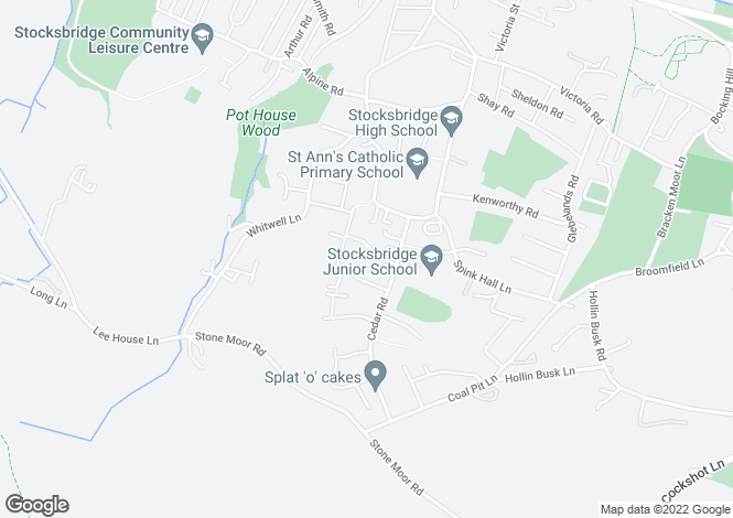 Map for Lilac Avenue, Stocksbridge, S36