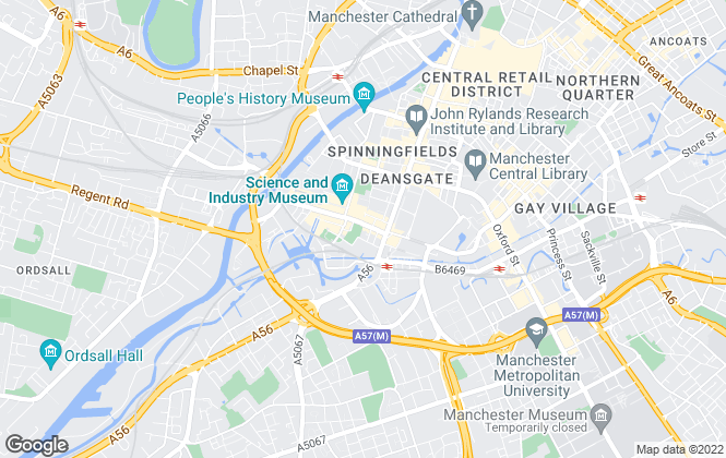 Map for Martin & Co, Manchester Central - Lettings & Sales