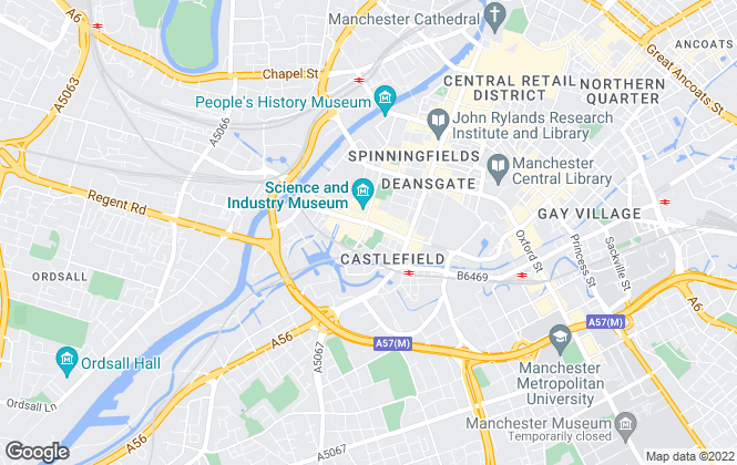 Map for We Let Properties, Manchester