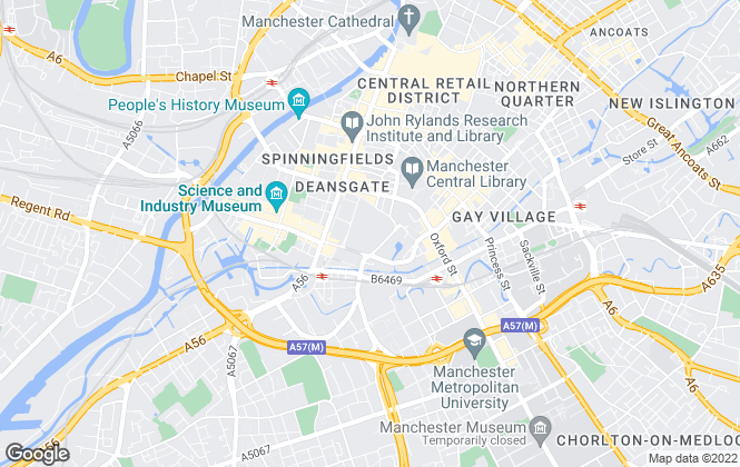 Map for Purplebricks, covering Manchester
