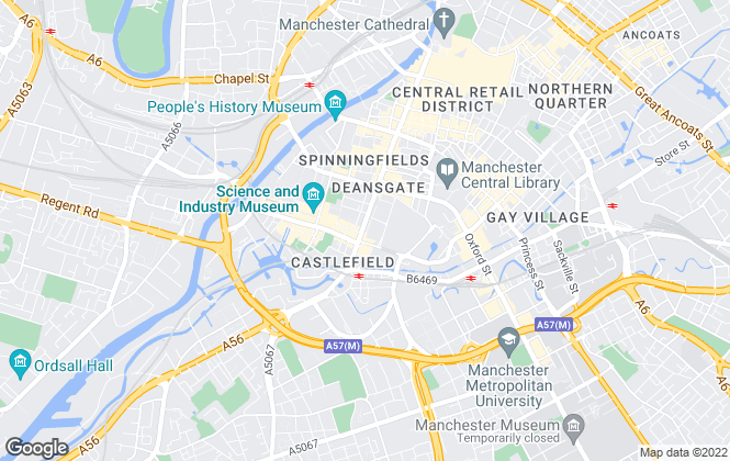 Map for MINT Properties, Manchester & Derbyshire