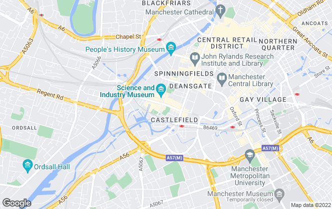 Map for JLL, Manchester New Homes