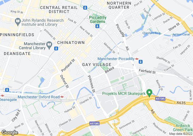 Map for Sackville Street, Manchester, M1