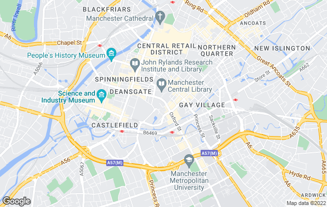 Map for The Estate Agent Manchester, Manchester