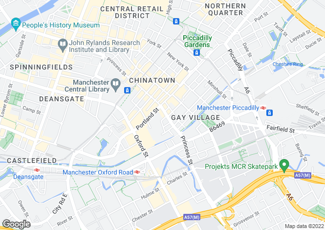 Map for Princess Street,