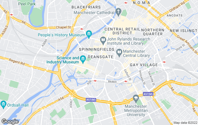 Map for Julie Twist Properties, Manchester