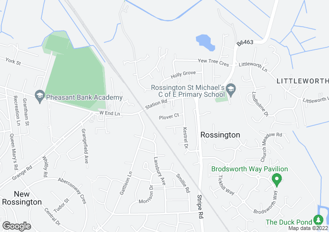 Map for Plover Court, Rossington, Doncaster, DN11 0HU