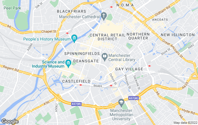 Map for WHR Property Consultants LLP, Manchester