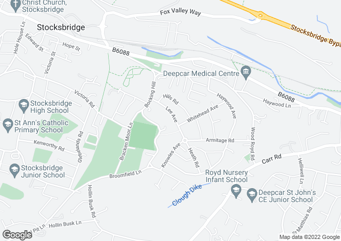 Map for Lee Avenue, Deepcar, Sheffield, S36 2QW