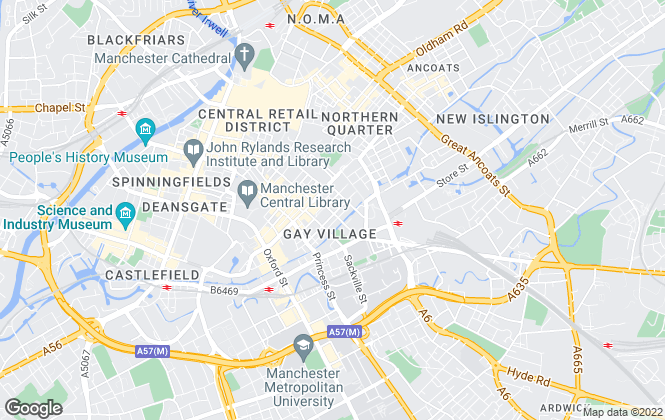 Map for Scanlans Residential, Manchester