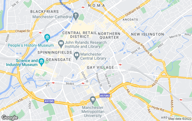 Map for The Letting Agent, Manchester