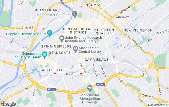 Map for Genesis City Ltd, Manchester