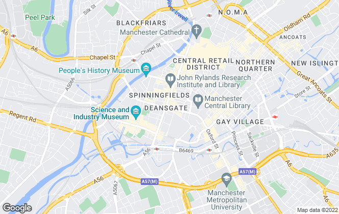 Map for Landwood Group, Manchester