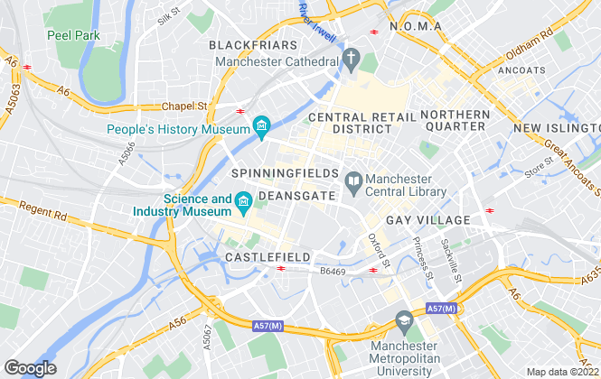 Map for Jordan Fishwick, Manchester