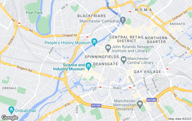 Map for Jennie Platt, Manchester