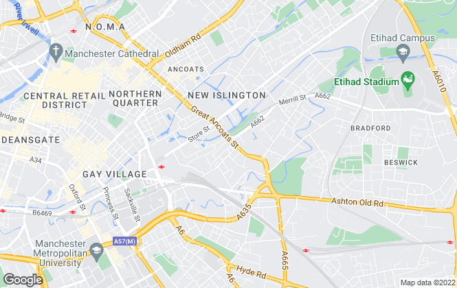 Map for Kacoo Investments Ltd, Manchester