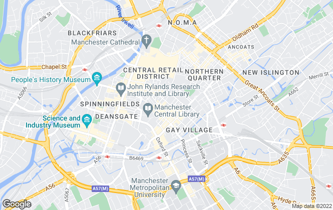 Map for Bright Estate Agent, Manchester