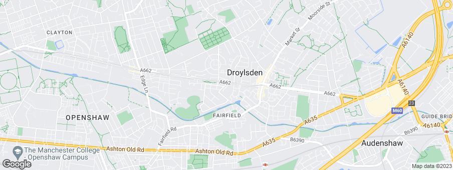 Map for DeTrafford Estates Group