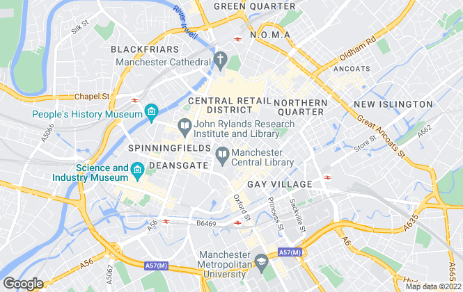 Map for Savills, Manchester - Office