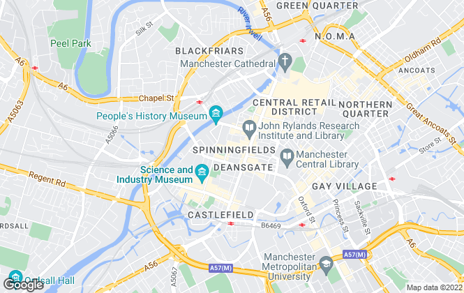 Map for The Good Estate Agency, Manchester