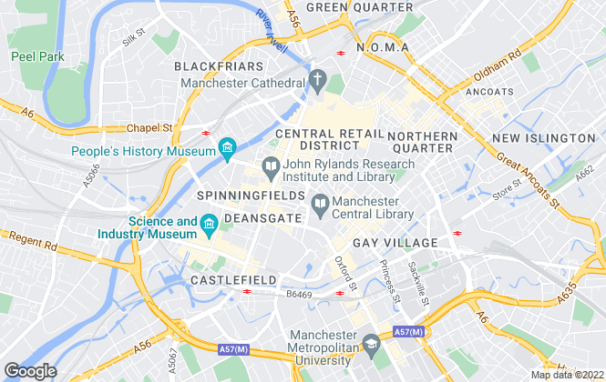 Map for Bruntwood, Manchester